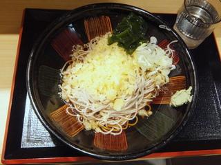 いろり庵きらく@大井町(3)冷したぬきそば390.JPG