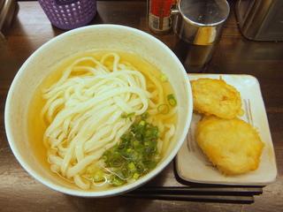 おにやんま@青物横丁(3)冷かけ並290麺半玉60レンコンとりミンチはさみ天ぷら200.JPG