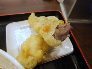 おにやんま@青物横丁(8)冷並ぶっかけ290麺0.560ゴーヤとうずら天200砂肝天150.JPG