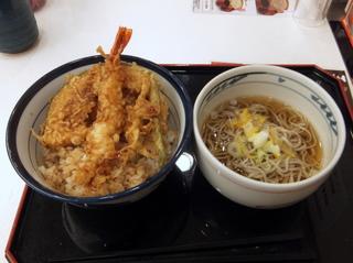 てんや@原宿(3)天丼小そばセット700.JPG