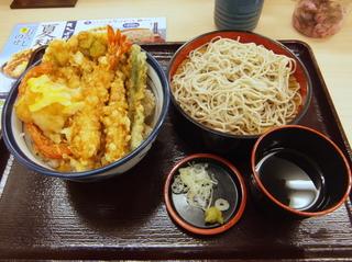 てんや@大森海岸(2)夏天丼790小そばセット200.JPG