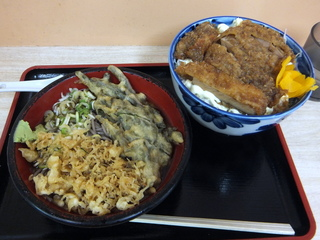 ときわ朝日@ときわ台(5)新潟風タレカツ丼セット600いんげん天120.JPG