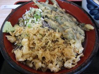 ときわ朝日@ときわ台(6)新潟風タレカツ丼セット600いんげん天120.JPG