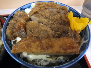 ときわ朝日@ときわ台(7)新潟風タレカツ丼セット600いんげん天120.JPG