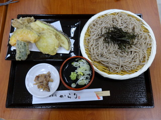 日本橋からり@品川シーサイド(4)舞茸と野菜天そば580.JPG