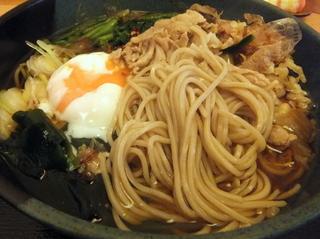 蕎麦たつ@泉岳寺(23)肉そば480ほうれん草100.JPG