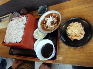 蕎麦政@南花畑(6)冷肉そば420.JPG