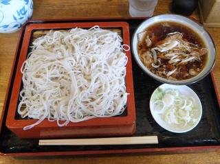 蕎麦政@南花畑(7)冷肉そば420.JPG